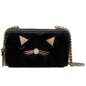 NWOT Kate spade crossbody bag cat fauxfur Brighton